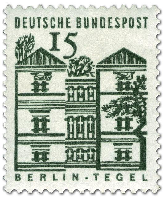 Schloss Tegel Berlin Briefmarke 1964