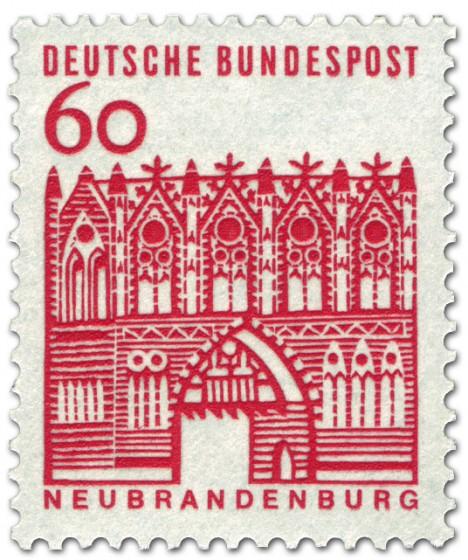 Briefmarke: Treptower Tor / Neubrandenburg