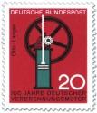 Briefmarke: Verbrennungsmotor von Nikolaus Otto (und Langen)