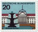 Briefmarke: Wiesbaden Kurhaus und Brunnen