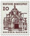 Briefmarke: Zwinger, Dresden / Sachsen