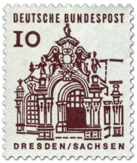 Dresden_ Zwinger (Briefmarke)