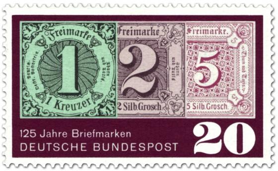 Briefmarke: 125 Jahre Briefmarken