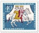 Briefmarke: Aschenputtel mit Prinz auf Pferd