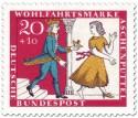 Briefmarke: Aschenputtel flieht vor dem Prinz mit dem Schuh