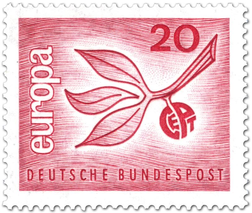 Europamarke 1965 Zweig Blätter Briefmarke 1965