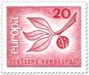 Europamarke 1965 (Zweig Blätter)