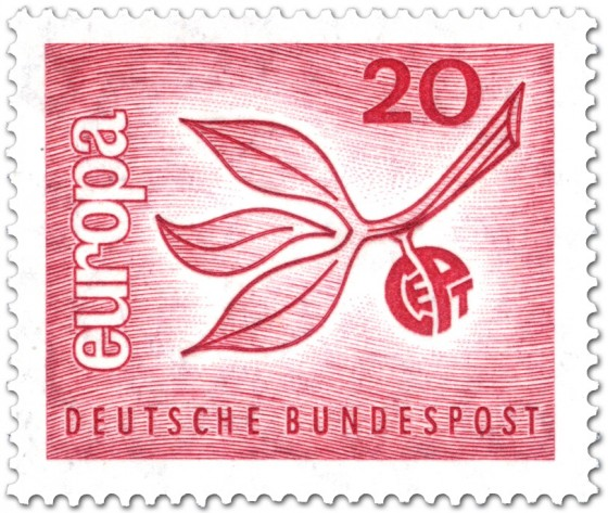 Briefmarke: Europamarke 1965 (Zweig Blätter)