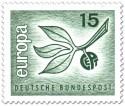 Europamarke 1965 (Zweig mit Blättern)