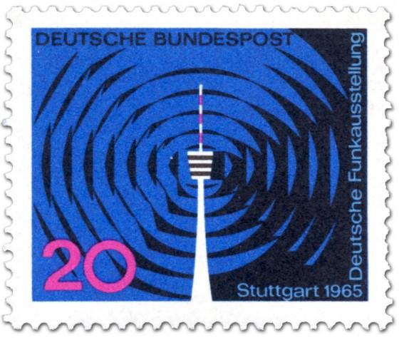 Briefmarke: Deutsche Funkausstellung, Stuttgart (Fernsehturm)