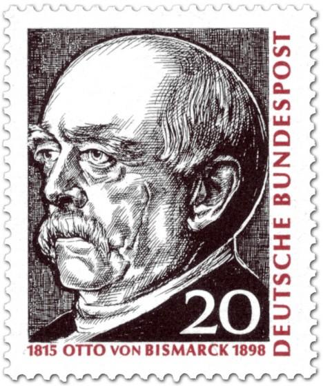 Briefmarke: Otto von Bismark (Reichskanzler)
