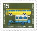 Briefmarke: Postbus (Oldtimer) und Omnibus
