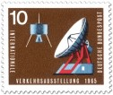 Briefmarke: Satellit und Satellitenantenne