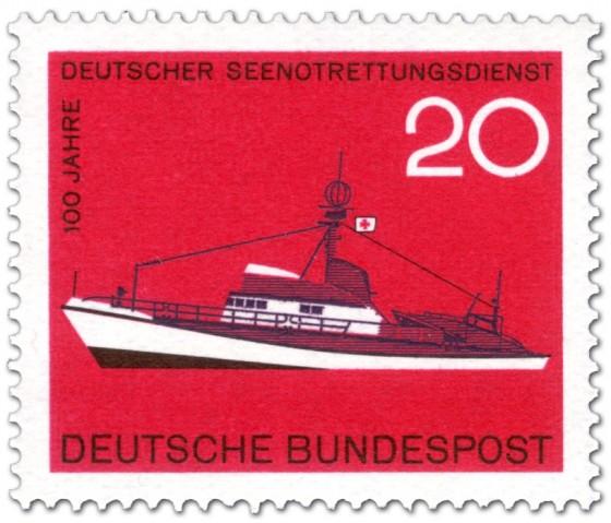 Briefmarke: Seenotrettungskreuzer Georg Breusing