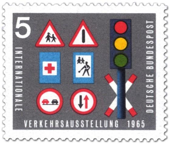 Briefmarke: Verkehrsschilder Ampel