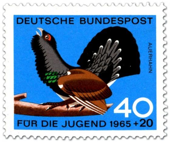 Briefmarke: Vogel: Auerhahn (Tetrao Urogallus)