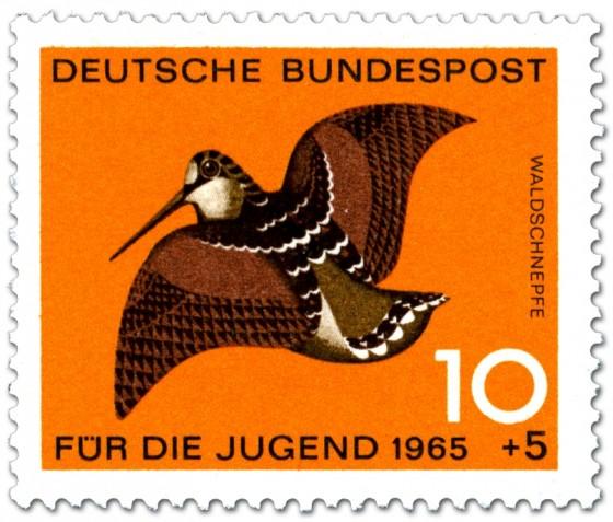 Briefmarke: Vogel: Waldschnepfe (Scolopax Rusticola)