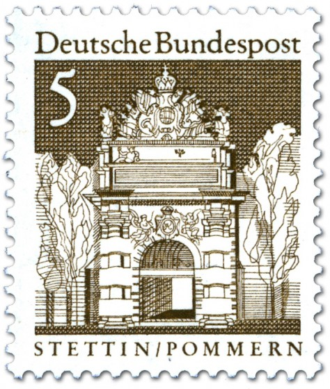 Briefmarke: Berliner Tor, Stettin (Pommern)
