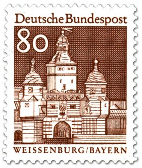 Briefmarke: Ellinger Tor in Weißenburg (Bayern)