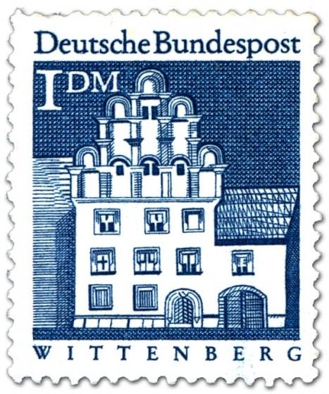 Briefmarke: Melanchthonhaus, Wittenberg