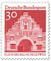 Briefmarke: Nordertor Flensburg, Schleswig (Rot)