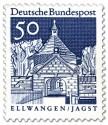 Briefmarke: Schloss Ellwangen / Jagst