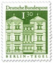 Briefmarke: Schloss Tegel in Berlin