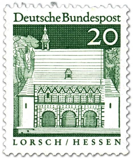 Briefmarke: Torhalle Lorsch (Hessen)