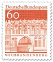 Briefmarke: Treptower Tor in Neubrandenburg