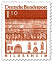 Briefmarke: Trinitatishospital in Hildesheim