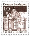 Briefmarke: Wallpavillon Zwinger, Dresden (Sachsen)