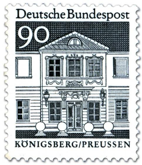 Briefmarke: Zschokkesches Stift in Königsberg (Preußen)