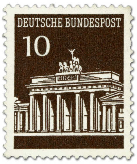 Briefmarke: Brandenburger Tor 10 (Braun)