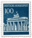 Briefmarke: Brandenburger Tor 100 (Preussischblau)
