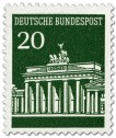 Briefmarke: Brandenburger Tor 20 (Grün)
