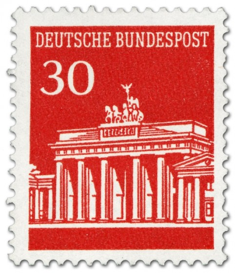 Briefmarke: Brandenburger Tor 30 (Rot)