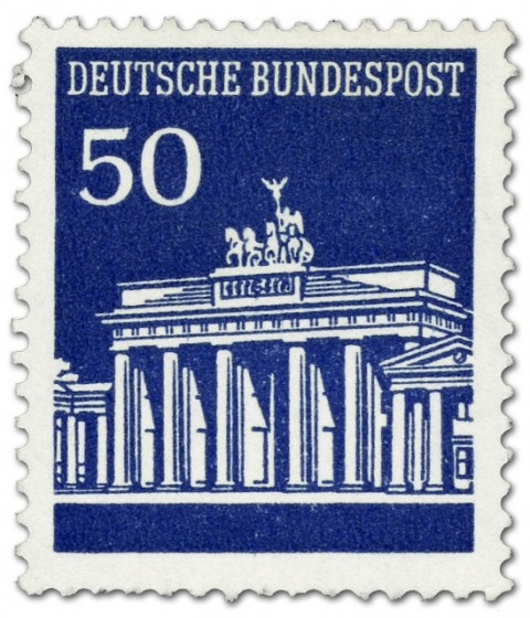 Briefmarke: Brandenburger Tor 40 Marineblau