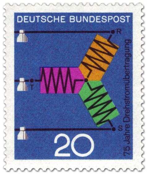 Briefmarke: Drehstromübertragung