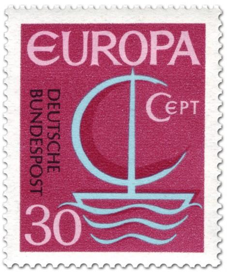 Briefmarke: Europamarke 1966 (Segelschiff) 30