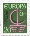 Europamarke 1966 (Segelschiff)
