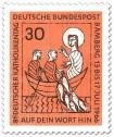 Briefmarke: Jesus mit Fischern im Boot (Katholikentag Bamberg)