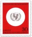 Briefmarke: Logo von Unicef (Friedensnobelpreis)