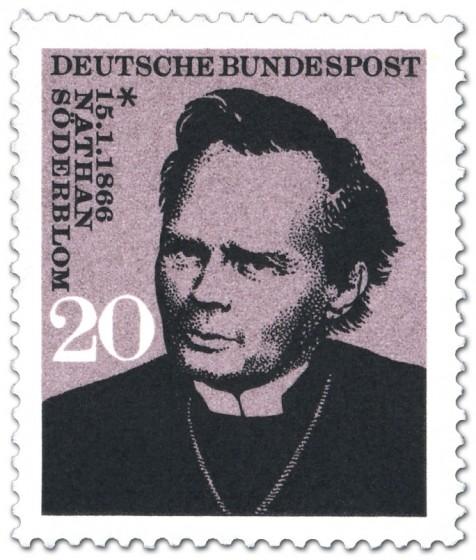 Briefmarke: Nathan Söderblom (Theologe, Erzbischof)