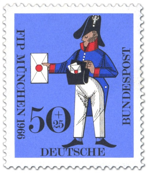 Briefmarke: Preußischer Briefträger (Kongress Philatelistenverband)