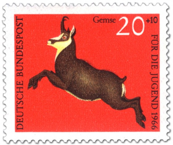 Briefmarke: Gemse (rupicapra rupicapra)