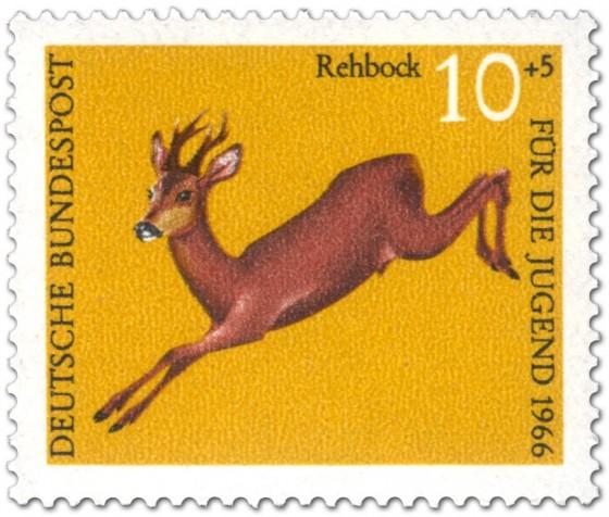 Briefmarke: Rehbock (capreolus capreolus)