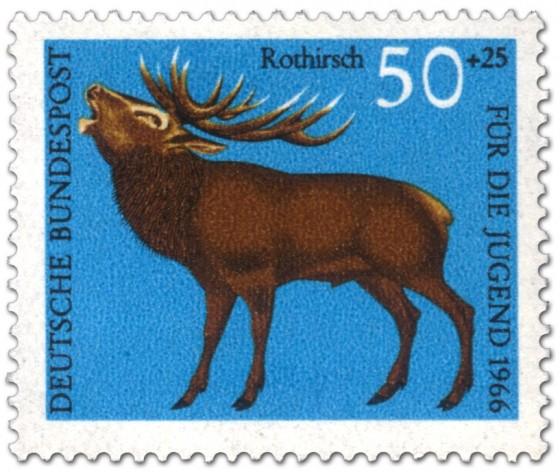 Briefmarke: Rothirsch (cervus elaphus)