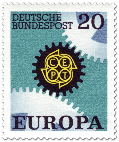 Briefmarke: Europamarke 1967 (Zahnräder)