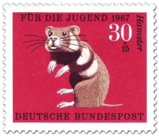 Briefmarke: Hamster (Feldhamster)