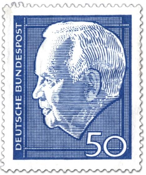 Briefmarke: Heinrich Lübke (Bundespräsident, 50)
